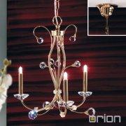 <b>【ORION】</b>クリスタルシャンデリア ゴールド 3灯 (W430×H460mm)