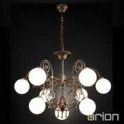 <b>【ORION】</b>ガラスボールシャンデリア ダークアンティークゴールド 9灯(Φ850×H560mm)