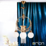 <b>【ORION】</b>ガラスボールシャンデリア アンティークゴールド 4灯(Φ500×H870mm)<img class='new_mark_img2' src='//img.shop-pro.jp/img/new/icons1.gif' style='border:none;display:inline;margin:0px;padding:0px;width:auto;' />