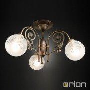 <b>【ORION】</b>ガラスボールシャンデリア ダークアンティークゴールド 3灯(Φ600×H350mm)