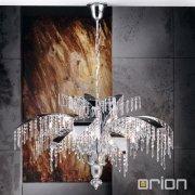 <b>【ORION】</b>クリスタル デザイン照明 クローム 24灯(W1050×H620mm)