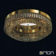 <b>【ORION】</b>デザインシーリングライト ゴールド 6灯(W600×H140mm)