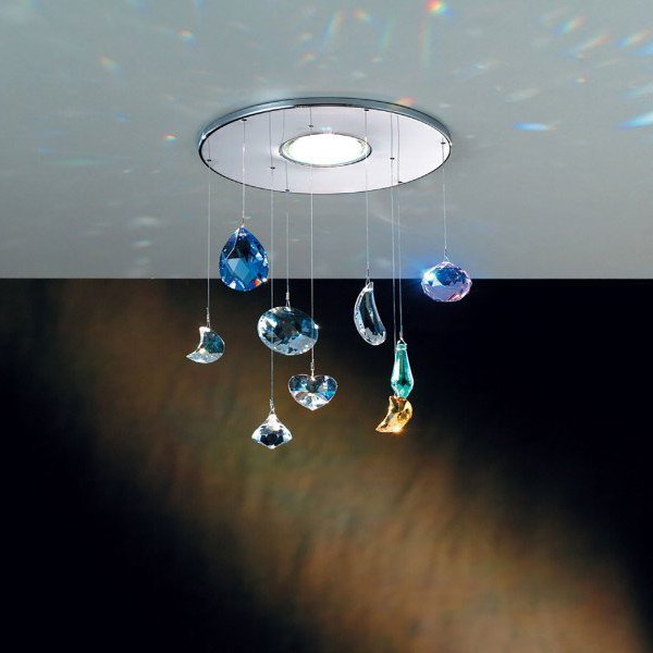 【ORION】スワロフスキー カラークリスタル ダウンライト(φ150×H250mm)