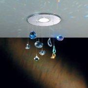 <b>【ORION】</b>スワロフスキー カラークリスタル ダウンライト(φ150×H250mm)