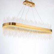 デザインクリスタルシャンデリア 1灯 ゴールド(W800×D350×H340mm)