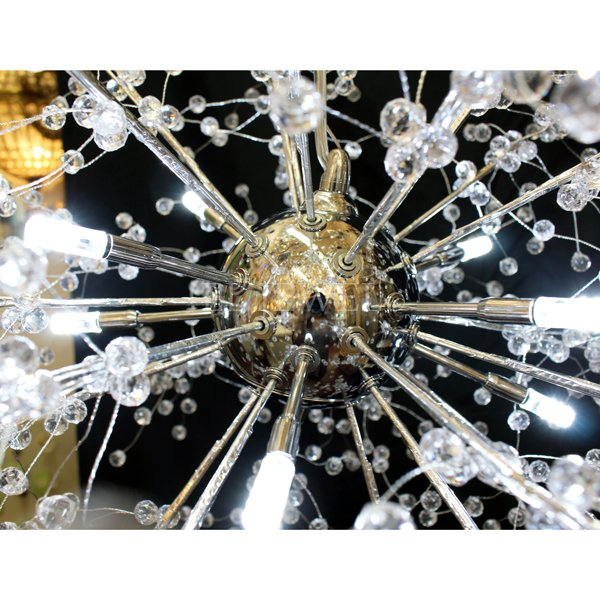 【在庫有!】 ファイヤーワークスデザイン照明 シルバー 8灯(約Φ600mm)