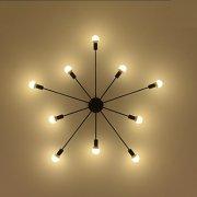 デザイン照明 スプートニク シャンデリア 10灯 ブラック(約W1220×H200mm)