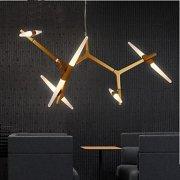 デザイン照明 スプートニク シャンデリア 10灯 ゴールド(約W500×H600mm)