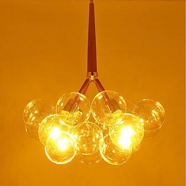 【JLYLITE】ガラスボールシェード・デザイン照明 シャンデリア 4灯 ゴールド(約W550×H550mm)