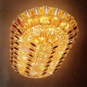 デザイン照明 シャンデリア ゴールドorクローム(約W900×D1350×H300mm)