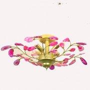 デザインクリスタルシーリング照明 4灯 ゴールド(Φ660×H300mm)