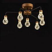 デザインクリスタル照明 7灯 ゴールド(W550×H300mm)
