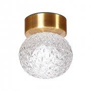 デザインシーリングライト 1灯 ゴールド(Φ120×H140mm)