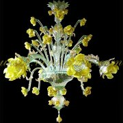 <b>【VENICE ARTE】</b>ヴェネチアンガラスシャンデリア6灯(φ750×H850mm)