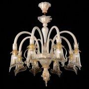 【VENICE ARTE】ヴェネチアンガラスシャンデリア「Bianca」8灯(Φ850×H850mm)※要お見積もり