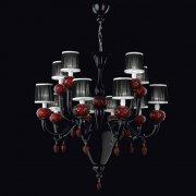 <b>【VENICE ARTE】</b>ヴェネチアンガラスシャンデリア「Morer」12灯(Φ900×800mm)※要お見積もり