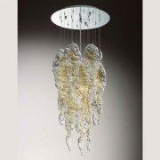 <b>【VENICE ARTE】</b>ヴェネチアンガラスシャンデリア「Aurel」3灯(Φ400×H950mm)※要お見積もり