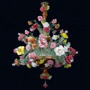 <b>【VENICE ARTE】</b>ヴェネチアンガラスシャンデリア「Beatrice」18灯(Φ900×H1200mm)※要お見積もり