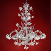<b>【VENICE ARTE】</b>ヴェネチアンガラスシャンデリア「Brina」6灯(Φ900×H1000mm)※要お見積もり
