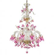 <b>【VENICE ARTE】</b>ヴェネチアンガラスシャンデリア「Delizia pink flowers tall」8灯(Φ1000×H1300mm)※要お見積もり<img class='new_mark_img2' src='https://img.shop-pro.jp/img/new/icons1.gif' style='border:none;display:inline;margin:0px;padding:0px;width:auto;' />
