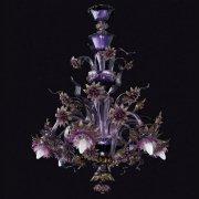 <b>【VENICE ARTE】</b>ヴェネチアンガラスシャンデリア「Cersei」6灯(Φ800×H850mm)※要お見積もり