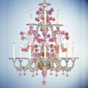 <b>【VENICE ARTE】</b>ヴェネチアンガラスシャンデリア「Cloris」12灯(Φ1200×H1500mm)※要お見積もり