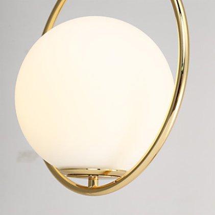 ガラスボールペンダントライト・ゴールド1灯(W300×H300mm)