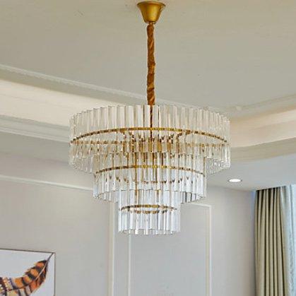 ガラスシェードシャンデリア・ゴールド15灯(W650×H460mm)