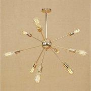 スプートニク・シャンデリア9灯・ゴールドorクローム(W670×H650mm)