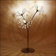 クリスタルビーズ・テーブルランプ3灯(W330×H500mm)