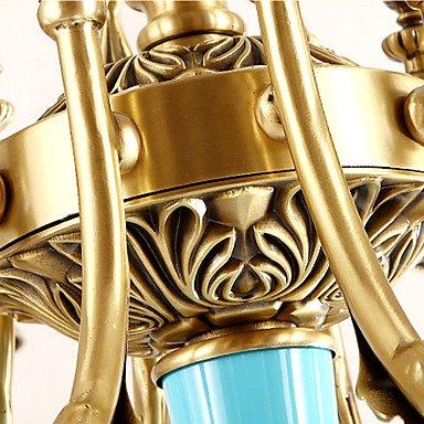 【ZHISHU】キャンドルスタイル・シャンデリア8灯 ゴールド(W780×H580mm)