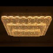 シーリング・ボールシャンデリア 40灯 クローム(W1500mm×H500mm×900mm)【3色切替LED電球付き】