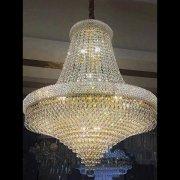【在庫有】 エンパイア型クリスタルシャンデリア 22灯 ゴールド(φ800×H900mm)