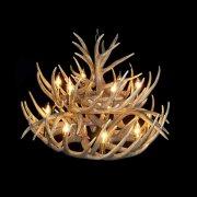 【鹿の角】ホーンシャンデリア15灯(Φ800×H550mm)
