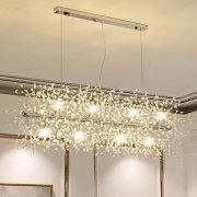 【OBSESS®】デザイン照明クリスタルシャンデリア12灯クロームorゴールド(W900×H400mm)