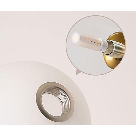 ガラスボールシェード・デザインシャンデリア4灯(W1000×H600〜mm)