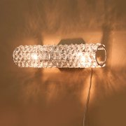 クリスタルウォールランプ2灯「LIANNA」・クローム(W330×D120×H75mm)