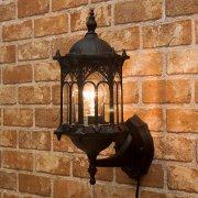 ウォールランプ1灯「オリエンタル」・ブラック(W200×D210×H300mm)
