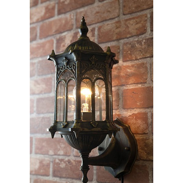 ウォールランプ1灯「オリエンタル」・ブロンズ(W200×D210×H300mm ...
