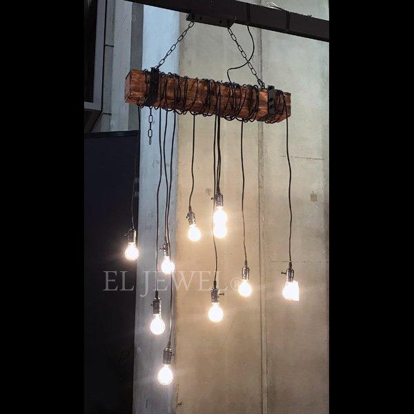 【在庫有!】 インダストリアル・スタイル照明10灯(W780mm)