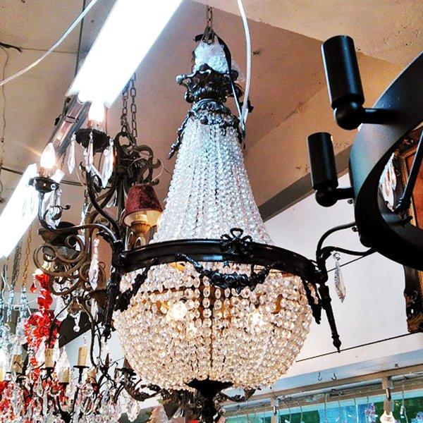 【在庫有!】  【TIEF】フランス製アールヌーボー様式エンパイア型シャンデリア8灯(H900mm)