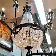 <b>【在庫有!】</b> 【TIEF】フランス製アールヌーボー様式エンパイア型シャンデリア8灯(H900mm)