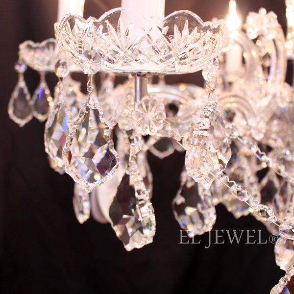 【ART GLASS】 クリスタルシャンデリア8灯クローム(W800×H530mm)
