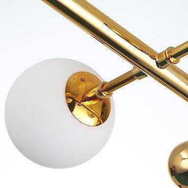 ガラスボールシェード8灯ゴールド(W900mm)