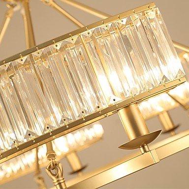 ガラスシェードシャンデリア6灯ゴールドorブラック(W610×H500mm)