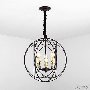 デザイン照明6灯ブラックorゴールド(W480×H550mm)