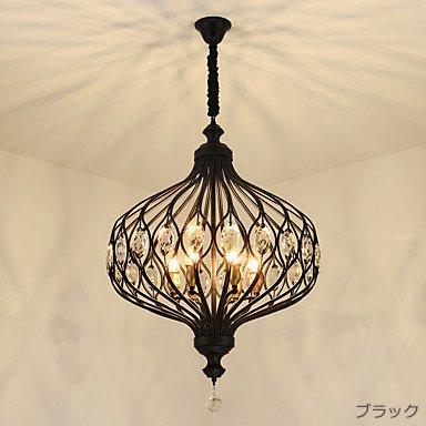 デザイン照明6灯ゴールドorブラック(W600×H800mm)