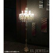 <B>【LA LUCE】</B>イタリア製クリスタル・フロアーシャンデリア12灯