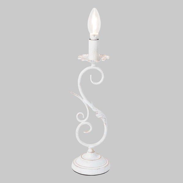 【即納可!】 アンティーク調テーブルライト1灯・ホワイト(H380mm)