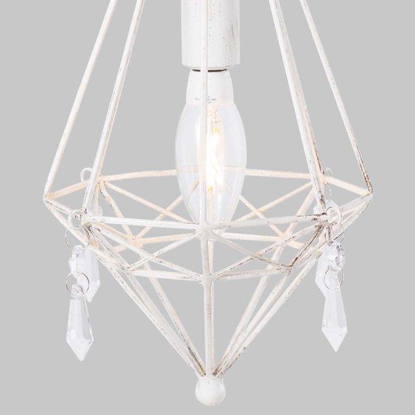 【即納可!】 ミニペンダントライト1灯ホワイト(φ175×H300mm)